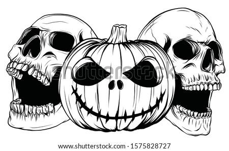 halloween monsters skull