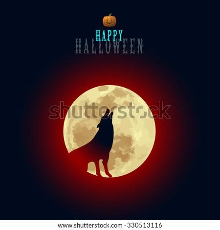 halloween moon wolf howl