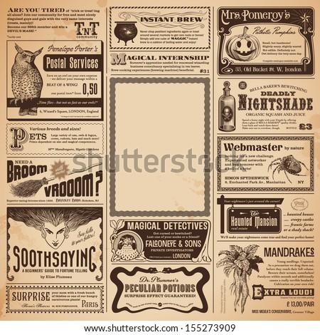 halloween newspaper with...