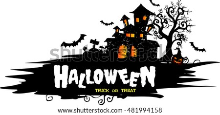 halloween night background with