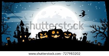 halloween night concept vector