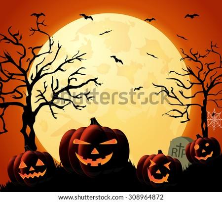 halloween night orange