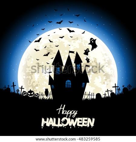 halloween night   silhouettes