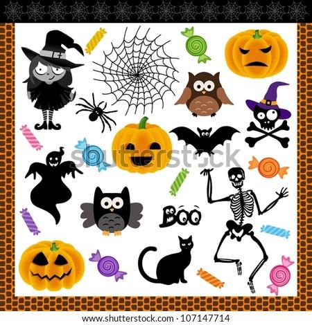 Halloween night trick or treat digital collage