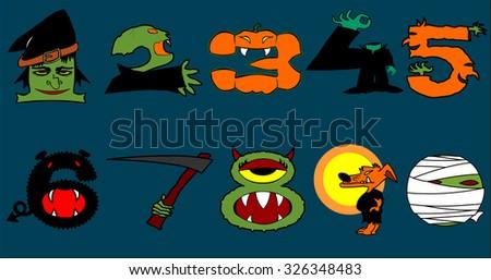 halloween numbers 1 0