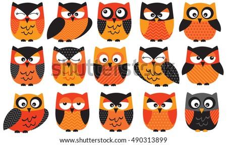 Halloween Owls Orange