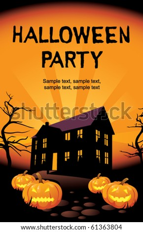 halloween party at home stock vector 61363804 shutterstock