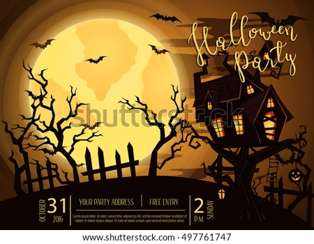 halloween party castle in