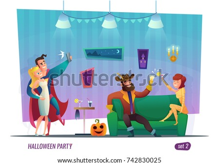 halloween party concept people