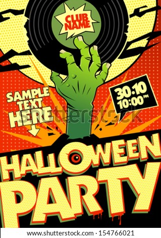 halloween party design in pop