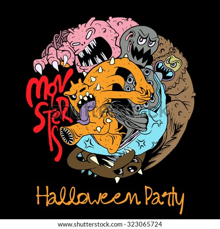 halloween party design template