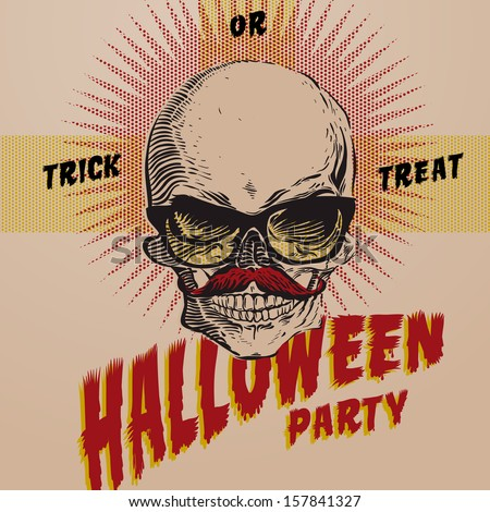 Halloween Party design template for card-poster-flyer, vector illustration.