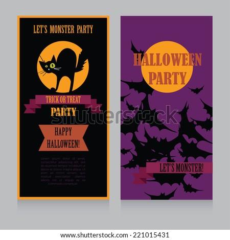 Halloween Party Design template, vector illustration - Shutterstock ID 221015431