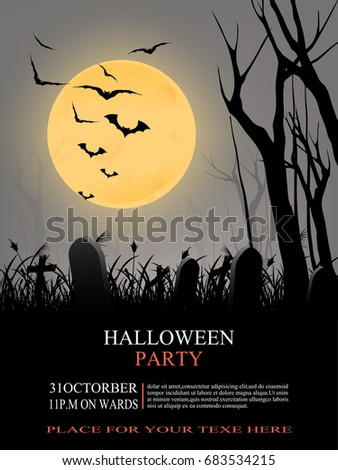 halloween party flyer with a terrifying atmosphere create your