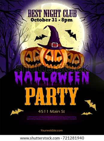 Halloween party flyer with pumpkins | EZ Canvas