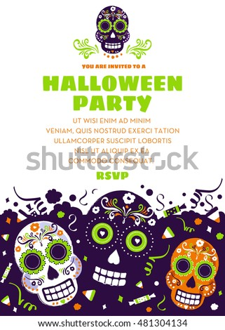 halloween party invitation or