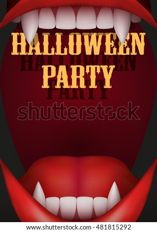 halloween party invitation with