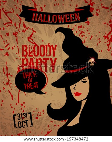 Halloween Party Poster. Vector Illustration. Trick Or ...