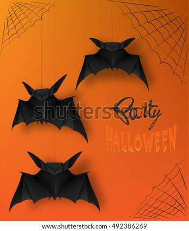 halloween party poster with