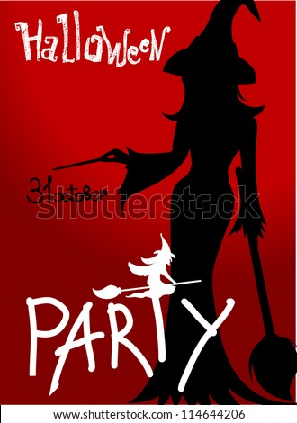 Halloween party poster with sexual witch