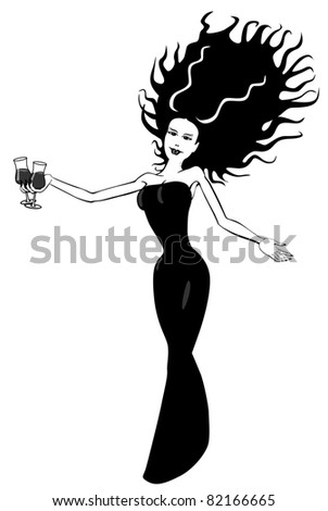 Female Vampire at a Halloween Party : Shutterstock