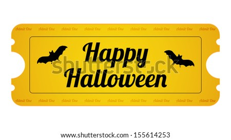halloween party ticket with