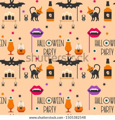 halloween party 2020 vector