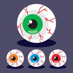 Halloween party zombie eyeballs icon