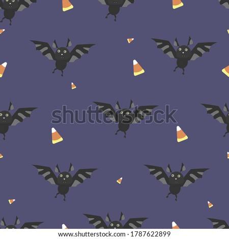 halloween pattern with bat and