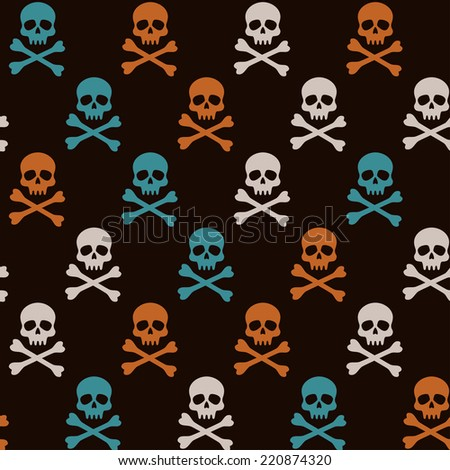 halloween pattern with colorful