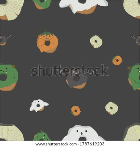 halloween pattern with donuts