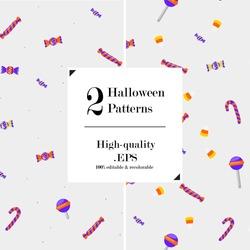 Halloween Patterns - Candy - Lollipops