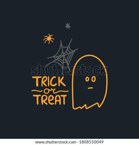 halloween postcard ghost