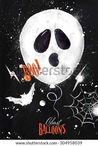 halloween poster balloon with