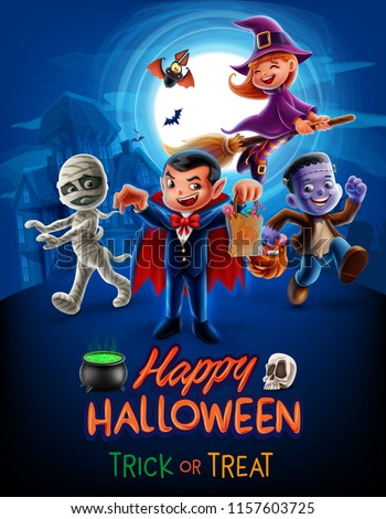 halloween poster illustration
