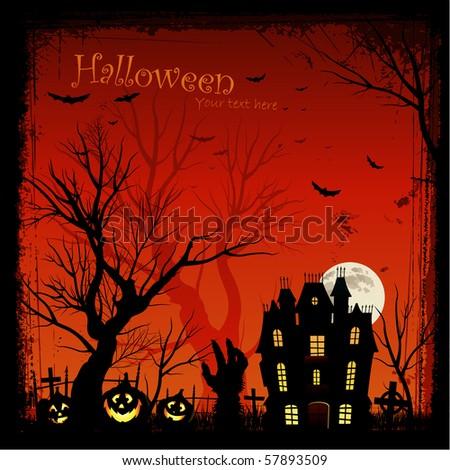 Halloween poster invitation