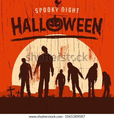 halloween poster  silhouette of