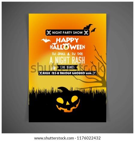 halloween poster template - Shutterstock ID 1176022432
