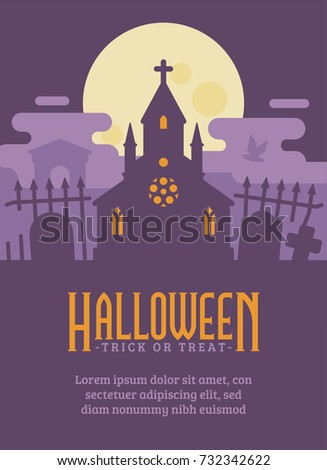 halloween poster with gothic