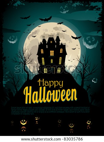 Halloween poster with place for text