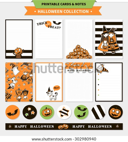 halloween printable vector