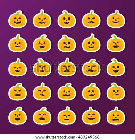 halloween pumkin stickers