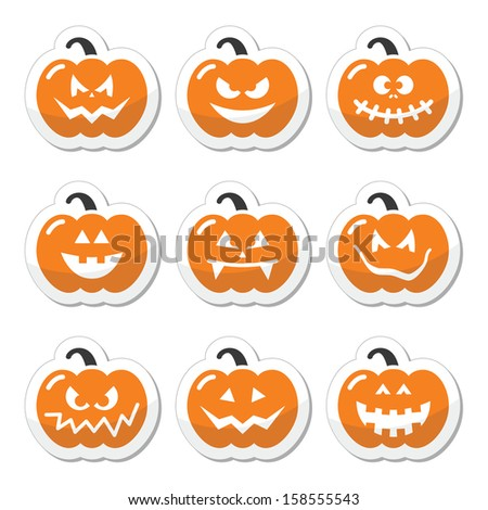 halloween pumkin vector orange