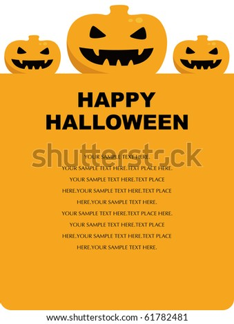 Halloween pumpkin background illustration