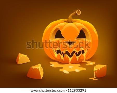 Halloween pumpkin background. Vector illustration.