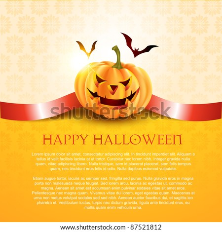 halloween pumpkin background with space for your text