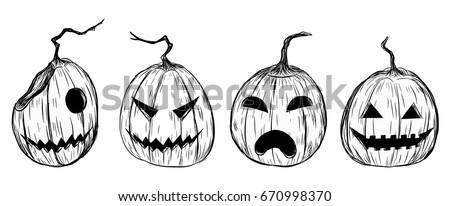 halloween pumpkin by hand