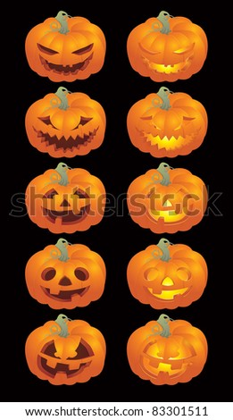 halloween pumpkin faces