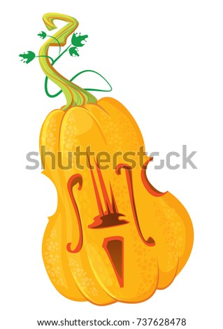 halloween pumpkin in the form