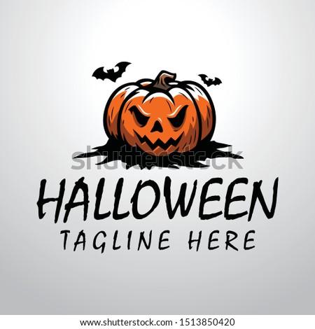 halloween pumpkin logo for